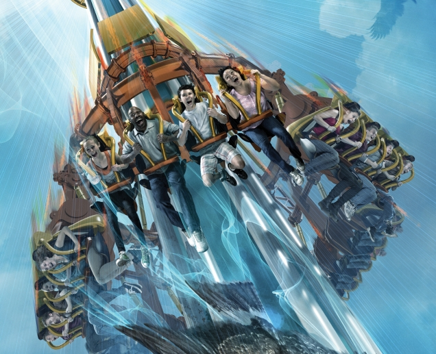 Busch Gardens finally opens Falcon's Fury, the first drop tower of it's kind, to the public